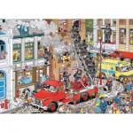 Puzzle  Jumbo-17279 Van Haasterne Jan : Alerte à l'incendie