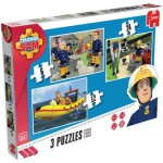 Jumbo-17339 3 Puzzles - Sam le Pompier