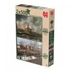 Jumbo-18344 Past and Present - 2 Puzzles - Noorderkerk Amsterdam
