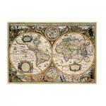 Puzzle  Jumbo-18345 Carte du Monde en 1630