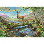 Puzzle  Jumbo-18357 Les Merveilles de la Faune