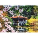 Puzzle  Jumbo-18361 Fleurs au Japon
