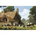 Puzzle  Jumbo-18579 Vaches à la Ferme