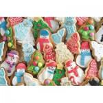 Puzzle  Jumbo-18581 Biscuits de Noël