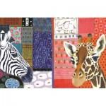 Puzzle  Jumbo-18585 Eugen Stross - Art Africain