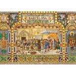 Puzzle  Jumbo-18590 Céramiques de Barcelone