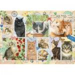 Puzzle  Jumbo-18813 Cat Stamps