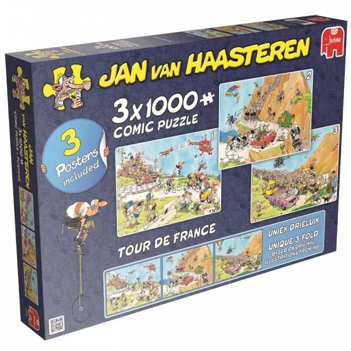 3 Puzzles - Jan van Haasteren: Tour de France