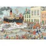 Puzzle  Jumbo-19055 Jan Van Haasteren - Arrivée au Port de Saint Nicolas
