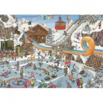 Puzzle  Jumbo-19065 Jan Van Haasteren - Jeux d'Hiver