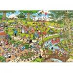 Puzzle  Jumbo-19070 Pièces XXL - Jan Van Haasteren - Le Parc