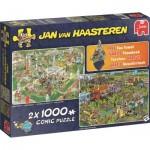 Jumbo-19079 2 Puzzles - Jan Van Haasteren - BBQ Party & Food Truck Festival