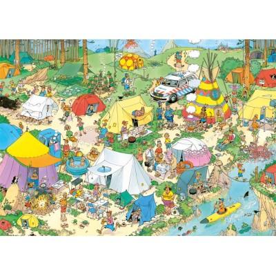 Puzzle Jumbo-19086 Jan Van Haasteren - Camping Nature