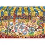 Puzzle  Jumbo-19089 Jan Van Haasteren - Acrobates du Cirque