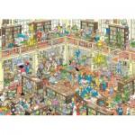 Puzzle  Jumbo-19092 Jan Van Haasteren - La Bibliothèque