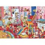 Puzzle  Jumbo-19110 Wasgij Mystery 11 - La Garderie en Folie