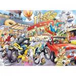 Puzzle  Jumbo-19132 Wasgij Imagine 2: ...Si on n'avait pas inventé la Roue !