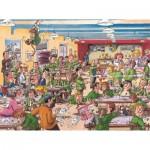 Puzzle  Jumbo-19144 Wasgij Retro Destiny 1 - Les Plus Beaux Jours de nos Vies!