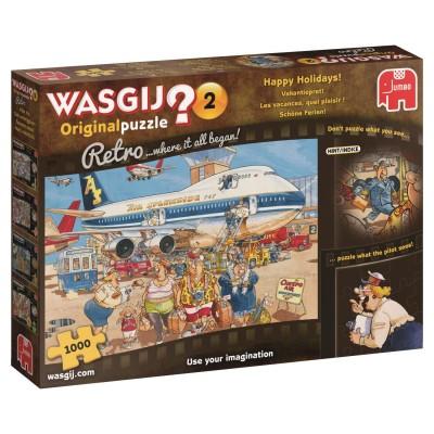 Puzzle Jumbo-19153 Wasgij Original Retro 2 - Les Vacances, Quel Plaisir !