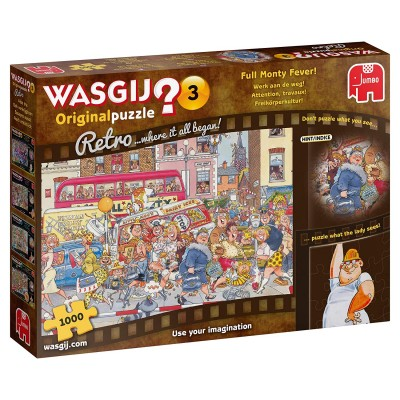 Puzzle Jumbo-19167 Wasgij Original Retro 3 - Attention, Travaux !