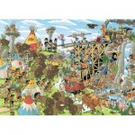 Puzzle  Jumbo-19210 Pieces of History - The Wild West