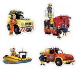 Jumbo-19275 4 Puzzles - Sam le Pompier