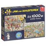 2 Puzzles - Jan Van Haasteren - Food Frenzy