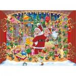 2 Puzzles - Wasgij Christmas 15 - Livraison inattendue du Père Noël