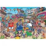 Puzzle  Jumbo-25004 Wasgij Original 37 - Fiasco des vacances