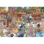 Puzzle  Jumbo-25005 Wasgij Destiny 23 - Theme Park Thrills