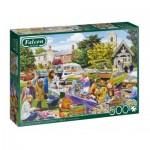 Puzzle   Village Church Car Boot Sale