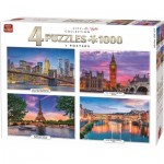 4 Puzzles - City at Night Collection
