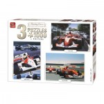 King-Puzzle-05213 3 Puzzles - Racing Cars Collection