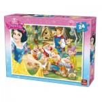 Puzzle  King-Puzzle-05242-A Blanche Neige et les 7 Nains