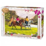 Puzzle  King-Puzzle-05296 Girls & Horses
