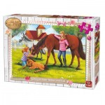 Puzzle  King-Puzzle-05297 Girls & Horses