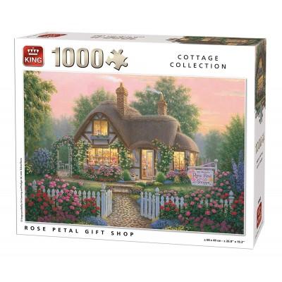 Puzzle King-Puzzle-55860 Cottage Rose Petal Gift Shop
