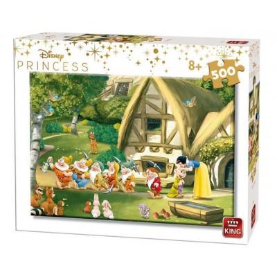 Puzzle King-Puzzle-55916 Disney Princess - Blanche Neige et les 7 Nains