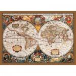 Puzzle  KS-Games-11204 Carte du Monde au 17ème Siècle