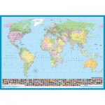 Puzzle  KS-Games-11332 Carte du Monde (en Turc)