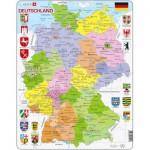 Larsen-A11-DE Puzzle Cadre - Carte de l'Allemagne (en Allemand)
