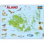 Larsen-A12 Puzzle Cadre - Carte des Iles Åland
