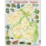 Larsen-A2-DE Puzzle Cadre - Reinland-Pfalz/ Saarland (en Allemand)