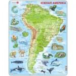 Larsen-A25-RU Puzzle Cadre - Amérique du Sud (en Russe)