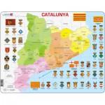 Larsen-A29-CT Puzzle Cadre - Carte de la Catalogne (en Catalan)