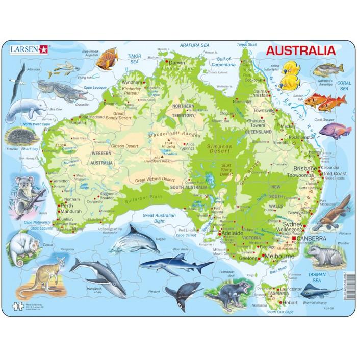 Puzzle Cadre - Carte de l'Australie (en Allemand)