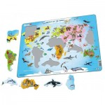 Larsen-A34-GB Puzzle Cadre - Animals of the World