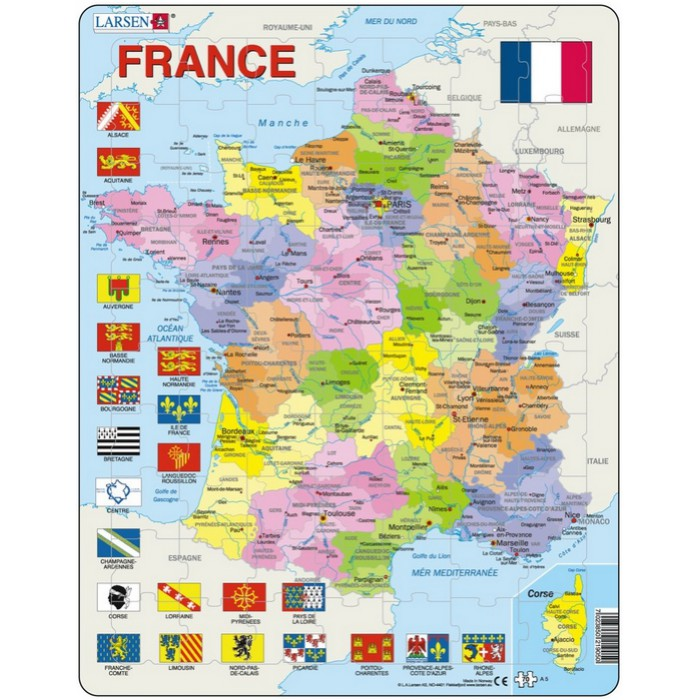 Puzzle Cadre - Carte de France