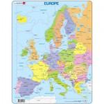 Larsen-A8-FR Puzzle Cadre - Carte de l'Europe (en Français)