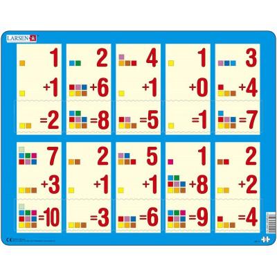 Larsen-AR11 Puzzle Cadre - Apprendre à Compter : L'Addition de 1 à 10